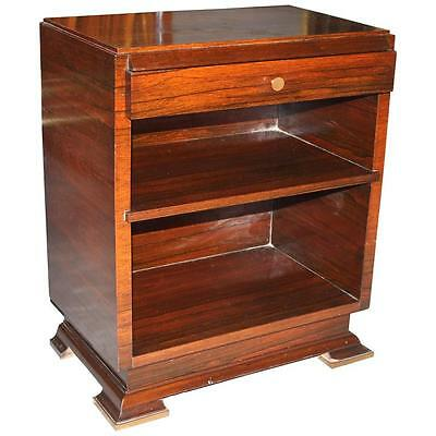 French Art Deco Palisander Nightstand by Maxime Old, circa 1940s  AS IS