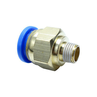 "12 mm OD * 1/8"" BSPP Push Fitting  Air Pneumatic Male Straight Connector"