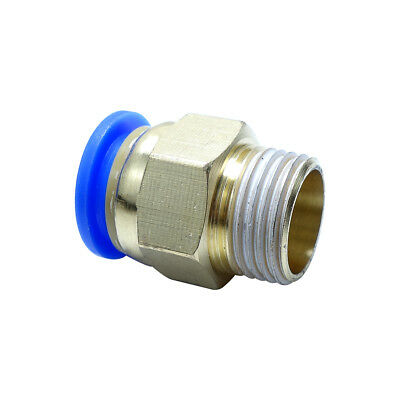 "12 mm OD * 3/8"" BSPP Push Fitting  Air Pneumatic Male Straight Connector"