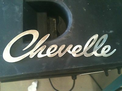 Chevelle logo Small Metal Man Cave/Garage Wall Art