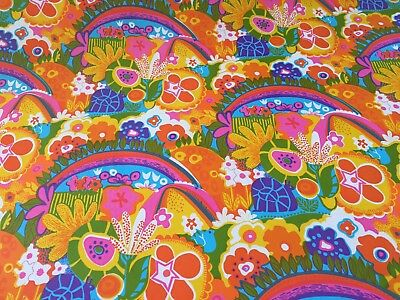Vtg Wrapping Paper Gift Wrap 1960 Retro Rainbow Hippie 70's Show Psychedelic