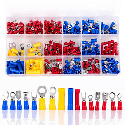 300X Insulated Electrical Crimp Terminals Wire Connectors Spade Bullet Set Kit Z