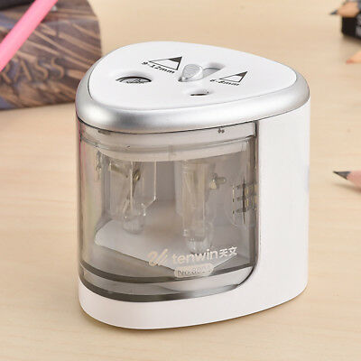 2 Holes School Automatic Electric Pencil Sharpener Battery Operated Stationery