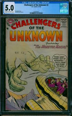 Challengers of the Unknown # 2  The Monster Maker !   CGC 5.0 scarce book !