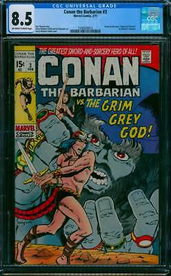 Conan the Barbarian # 3  The Grim Grey God !   CGC 8.5 scarce book !