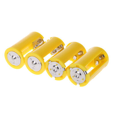 4PCS 3 AA To D Size Battery Holder Converter Switcher Adapter Plastic Box Case