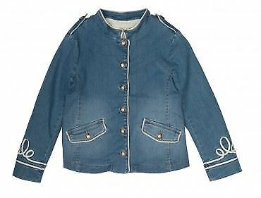 Bonpoint Girls Blue Denim Donya Jacket 4 Years