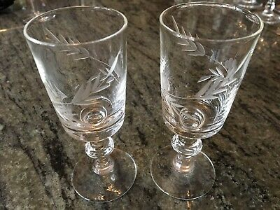 2 x Vintage Sherry / Wine Glasses