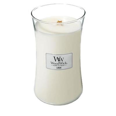 WoodWick Linen Large Jar Scented Candle