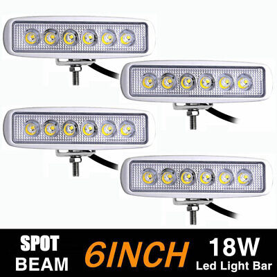 Pair 4inch 18W Spot LED Work Light Bar Offroad 4WD ATV SUV Fog Driving Lamp