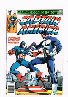 Captain America # 241  Powerless Before the Punisher !   grade 6.5 scarce book !