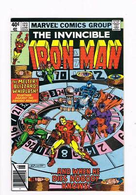Iron Man # 123  And when he Dies Nobody Knows !  grade 7.5 scarce book !