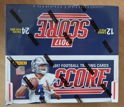Panini NFL Score 2017 Football Trading Cards Display OVP m. 24 Packs a 12 Karten