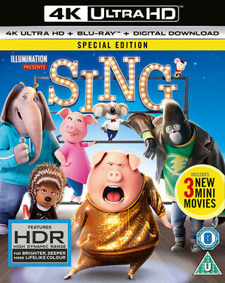 Sing DVD (2017) Garth Jennings cert U 2 discs ***NEW*** FREE Shipping, Save £s