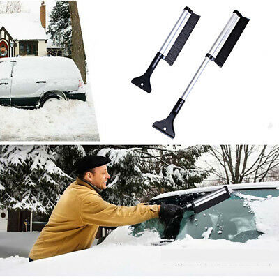 Ice Clean Scraper Snow Brush Retractable Truck Window Shovel Removal Squeegee