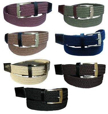 "Men's Elasticated Belt : By New Forest Belts : up to 42"" Waist : Many Colours"