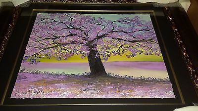 David Najar Painting (Aging Beauty) Giclee on Paper  # & Beautifully Framed