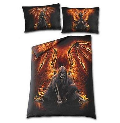Abbigliamento Rock 5055428380857 Flaming Death - Single Duvet Cover + Uk And Eu
