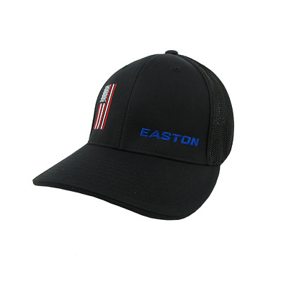 EASTON Hat by Pacific (404M) All Black Red   White Flag -SM eb25bcc4122e