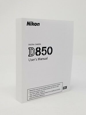 Nikon D850 Genuine Instruction Owners Manual D850 Book Original NEW