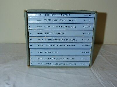 Vintage Little House on the Prairie Boxed Set of 9 Laura Ingalls Wilder 1971