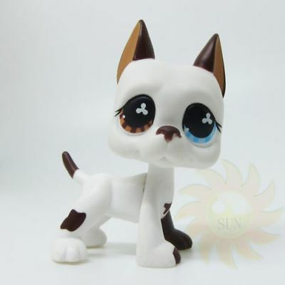 Littlest Pet Shop Animal LPS Loose Toy #577 White Great Dane Puppy Dog BB1