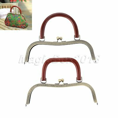 2 Style Metal Frame Kiss Clasp Lock Arch For Sewing Handbag Purse Coin Bag 27cm