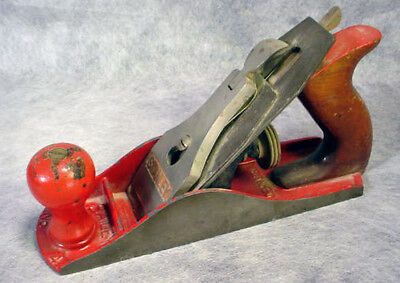 Vintage Stanley Tools Woodworking Wood Hand Plane Bailey No 4