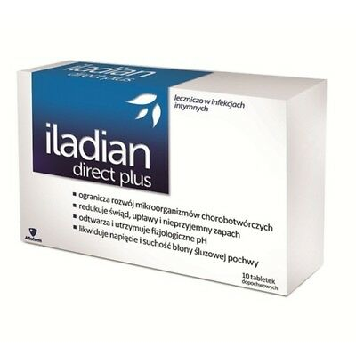 ILADIAN DIRECT PLUS Grzybica Infekcja Pochwy Thrush Bacterial Vaginosis x10