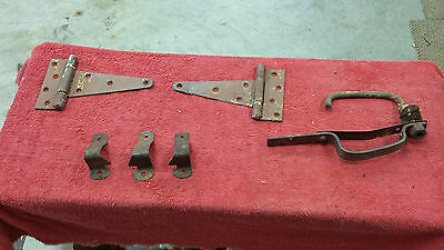 Vintage Lot Iron Barn Fence  Latches, Hardware, hinges ect