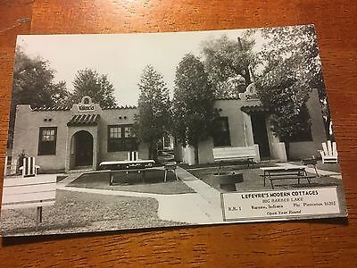 RPPC of Lefevre's Cottages in Warsaw, Indiana. Unposted