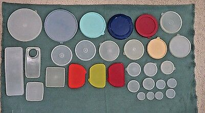 Vintage Mixed Lot of  30  TUPPERWARE Lids / Seals ONLY – EUC / Some NOS
