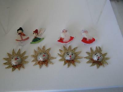 Vintage Lot of Paper Mache Pipecleaner 1940's Gift Tags lot of 8