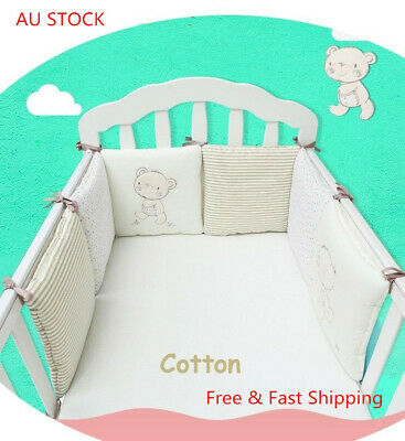 6Pcs/Lot Baby Bed Bumper in the Crib Cot Bumper Baby Bed Protector Crib Bumper