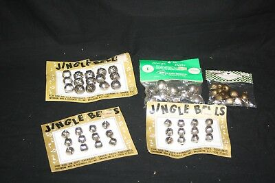 Vintage lot of 64 Unused Jingle Bells for Decorations/Crafts