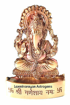 Lord Ganesh Ganesha Idol Maharaj Hindu God Antique Metal Statue Car Dash Board