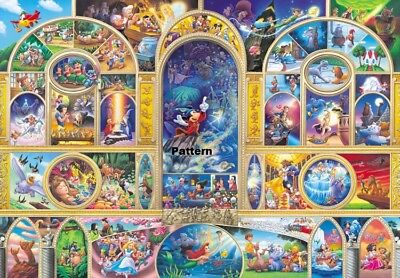 Disney Characters Collage 9 Cross Stitch Paper Pattern