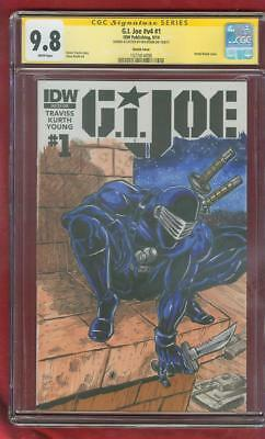 G.I.Joe 1 CGC SS 9.8 Todd McFarlane Special Snake Eyes Original art HomageSketch