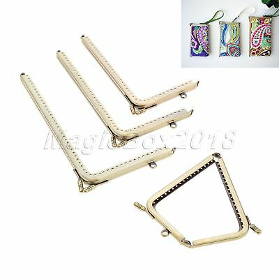 4 Size Square Bronze Purse Alloy Frames Kiss Clasp Bag Making Smooth Face 2pcs