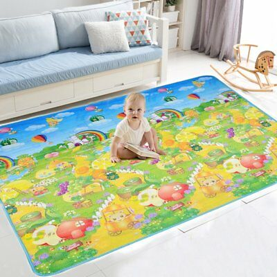 200X180Cm Kids Crawling 2 Side Play Mat Educational Game Soft Foam Picnic Carpet
