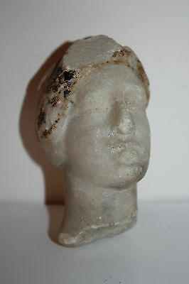 ANCIENT ROMAN MARBLE HEAD of a YOUNG MAN 2/3rd  CENTURY AD