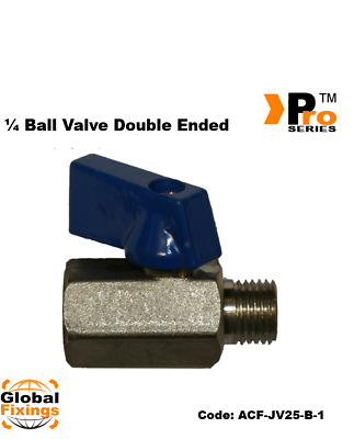 1/4'' BSP Male- Double Ended Ball Valve for Air lines-Air Compressors