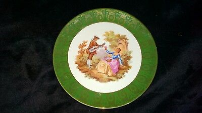 La Reine Limoges France Green collectors plate