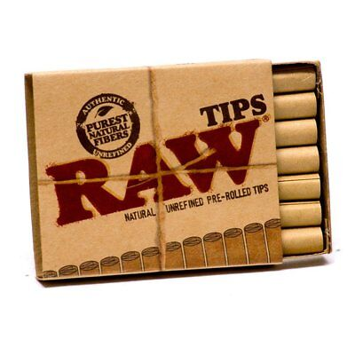 Raw Smoking Tips Natural Unrefined Cigarette Filter Rolling Paper Cone Tips Hemp