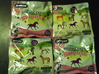 4 Packs~Breyer~Stablemates~Horse Crazy Suprise~Find/ Mystery Horse~New Unopened