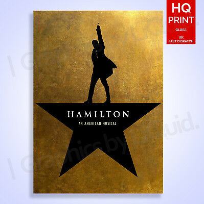 Hamilton Musical Poster American Decor Silk Wall Art A4 A3 A2