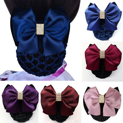 Lady Bow Hair Clip With Net Pocket Hairpin Accessories For Office Women Headwear