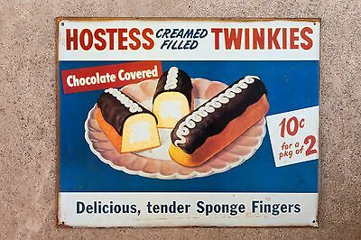 Tin Sign Hostess Cream Filled Twinkies Reproduction Sign Sponge Fingers