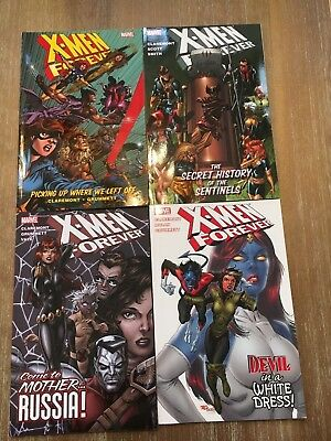 Lot of 4 X-Men Forever  Vol 1, 2, 3 & 4 TP TPB NEW ! Collects #1 - 20 + Annual 1