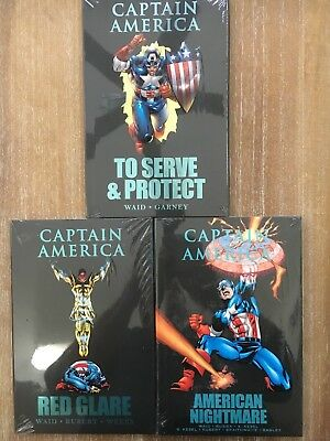 Lot of 3 Captain America Serve & Protect, Red Glare, Nightmare HC Hard Cover NEW